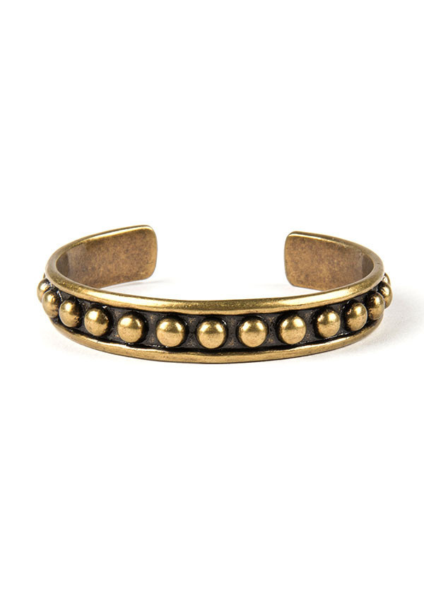 Dudine - Durango Studded Cuff in Oxidized Brass