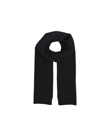UNISEX Colorful Standard Merino Scarf - Deep Black