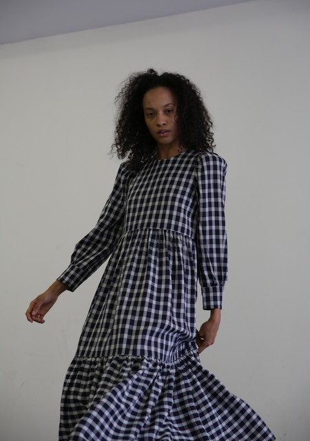 MR. LARKIN MAY PLAID DRESS - NAVY PLAID