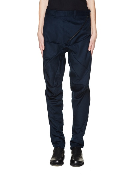 Leon Emanuel Blanck Wool Trousers - Navy Blue