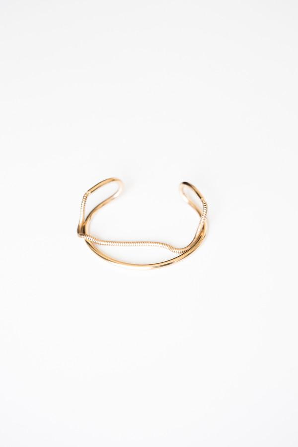 Jorge Morales Gold Plated Brass Bracelet