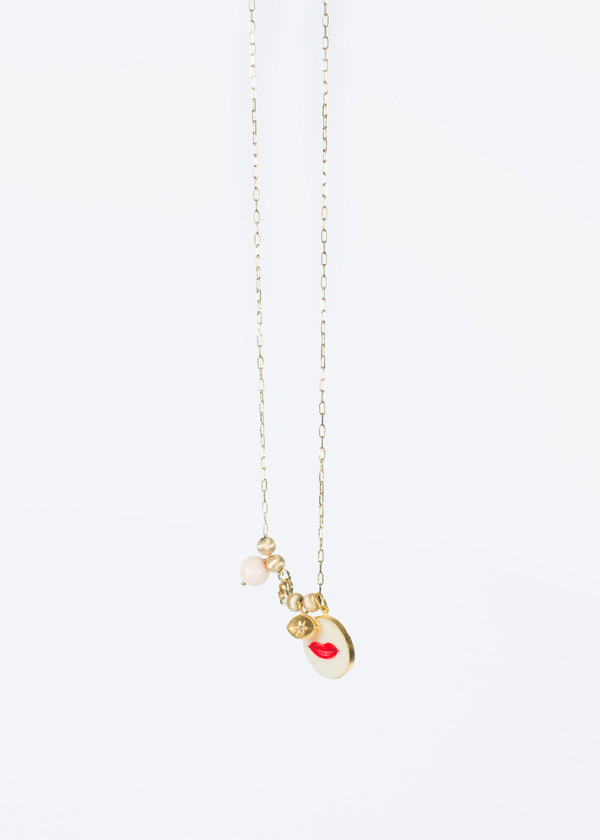 5 Octobre Lipstick Charm Necklace