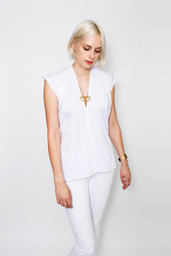 Miranda Bennett Everyday Top, Poplin in White