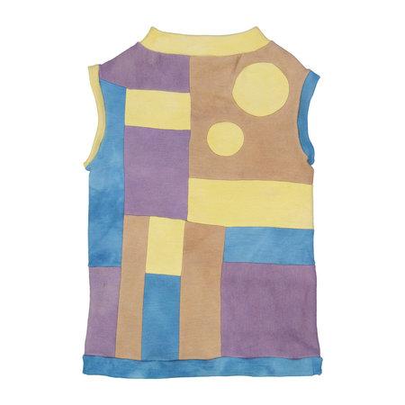 Kids Petit Mioche Organic Merino Wool Color Block Dress