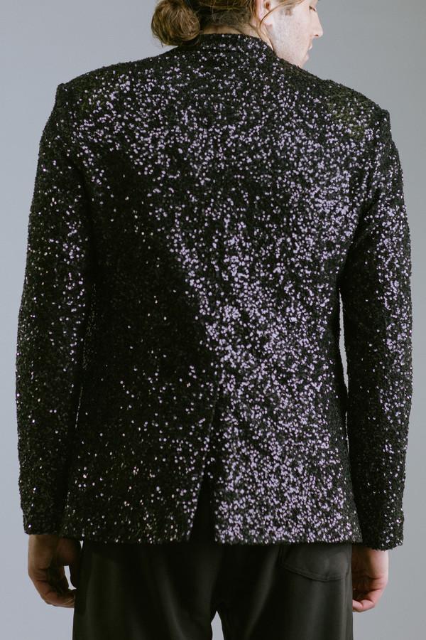Any Old Iron Black Sequin Blazer