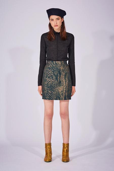 Eve Gravel Digital World Skirt - Snake Print