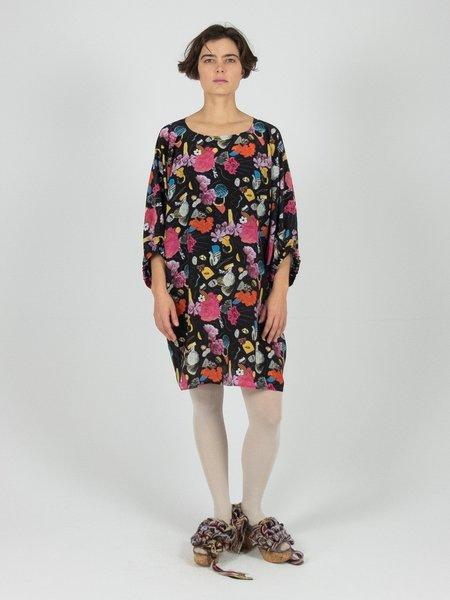 Hui-Hui Scarf Dress - Papercut Print