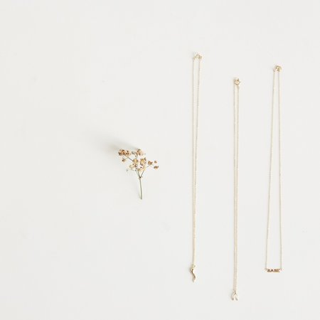 The Thorny Roses Horn Pendant Necklace - 14k Gold
