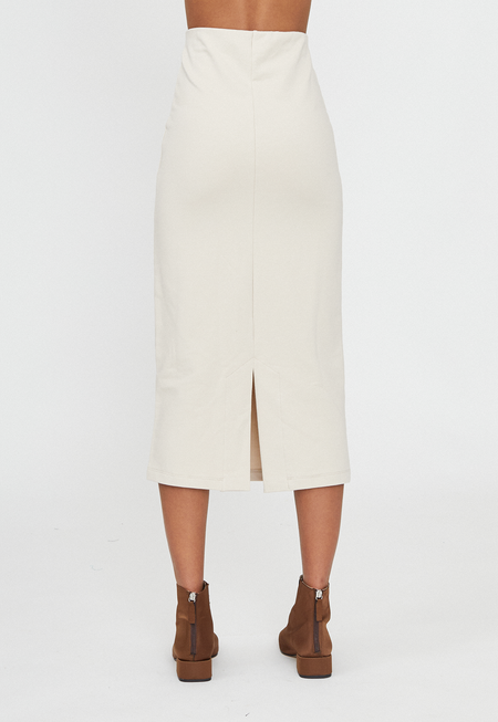 Rita Row Jersey Pencil Skirt - Marfil