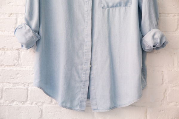 acne studios addle fluid light denim shirt