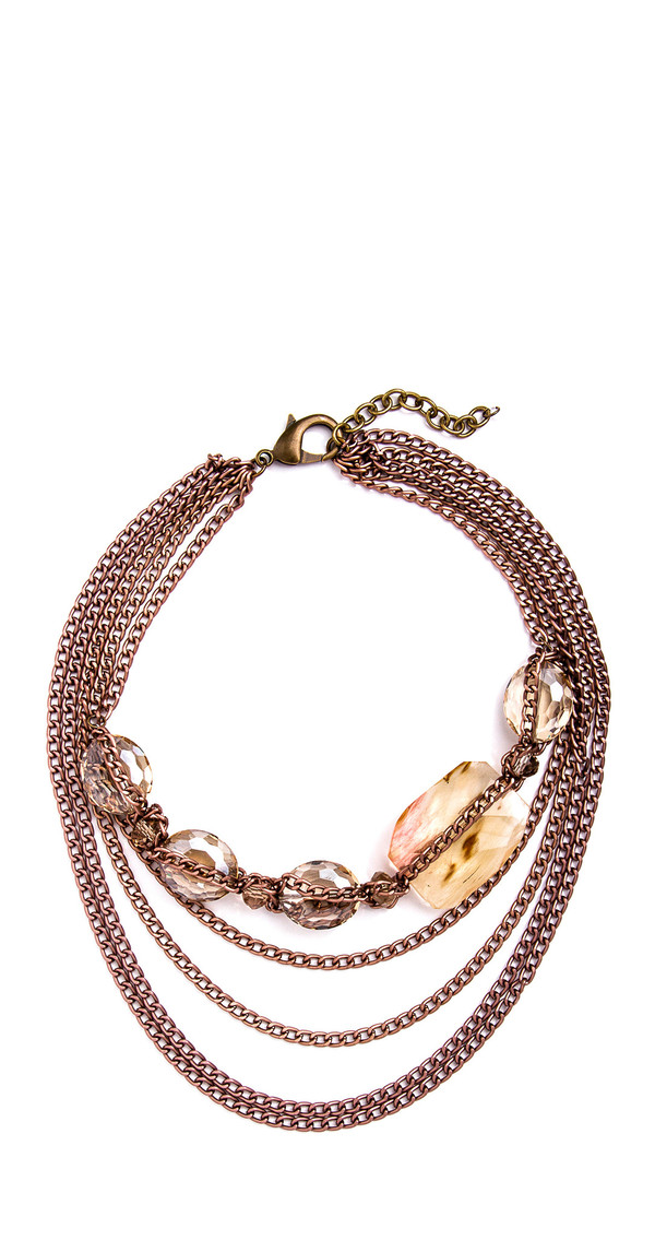 Grayling Chocolate Ivy Necklace in Rose