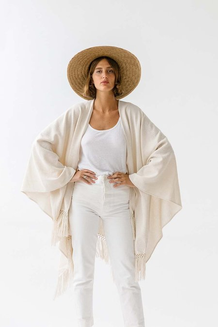 Pampa cotton poncho - White