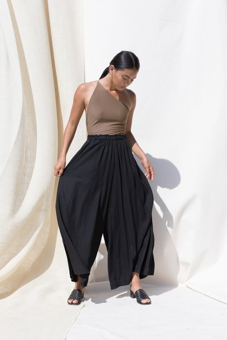 Pari Desai Kova Linen Pant - Black