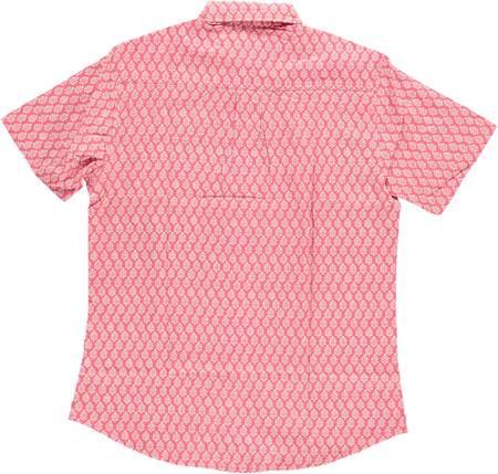 Dushyant Asthana Hand Printed The Folk Short Sleeve Shirt - Leaf/Light Red Print
