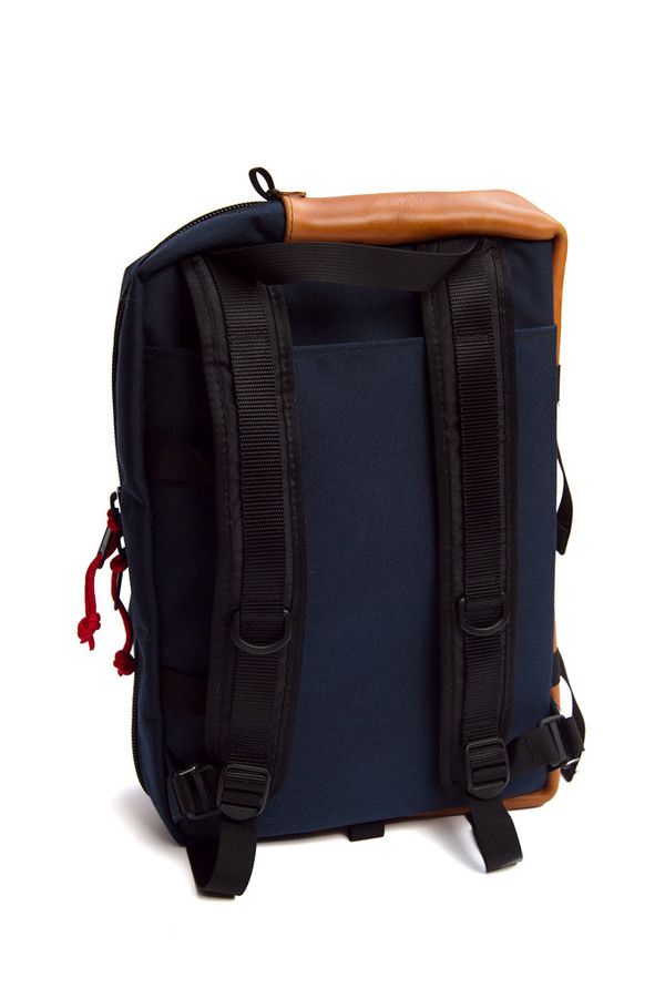 Topo Mountain Briefcase Navy Leather