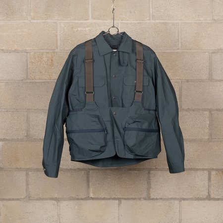 Meanswhile Vacant Land Add Jacket - Iron Blue
