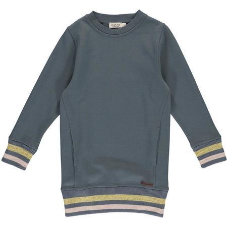 Kids Marmar Copenhagen Danea Double Jersey Dress - Shaded Blue