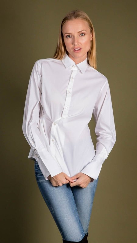 Palmer Harding Fractured Shirt - White Poplin