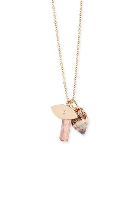 Eikosi Dyo Charms Necklace - 14k Rose Gold