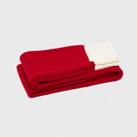 unisex curated by. Sleeve Scarf - red
