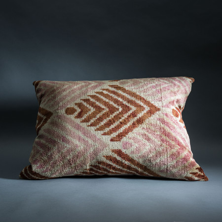 Rider For Life Silk Ikat Pillow