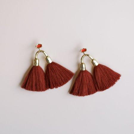 Ora-C Aria Earrings - Red Clay