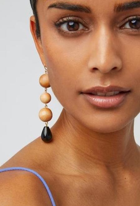 Sophie Monet Super Nova Earrings - Onyx/Pine