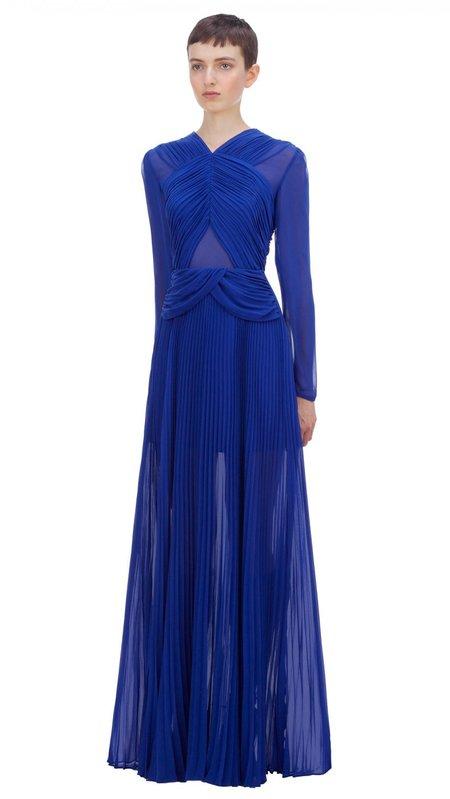 Self-Portrait Cross Front Maxi Dress - Cobalt Blue