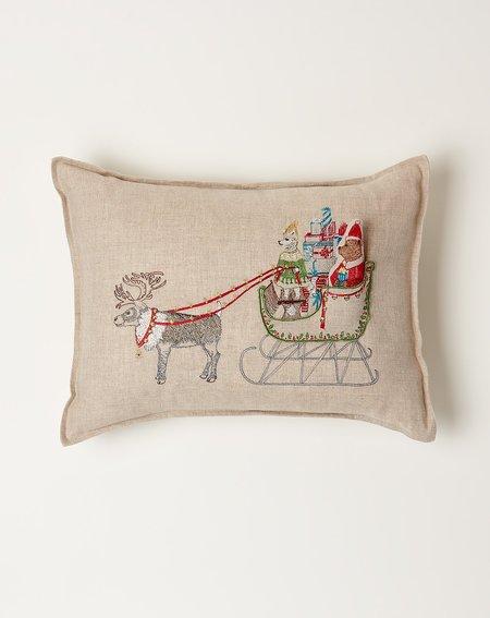 Coral & Tusk Santa's Sleigh Pocket Pillow
