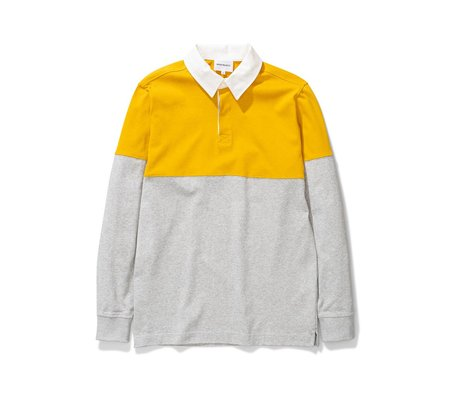 Norse Projects Ruben Polo Colour Block - M. Yellow