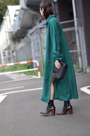 Rosey Stone Trèfle Dress - Deep Green