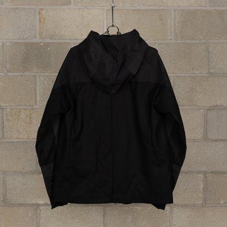 The Viridi-Anne Resin Processed Furano Schoeller Hood Combination Jacket - Black
