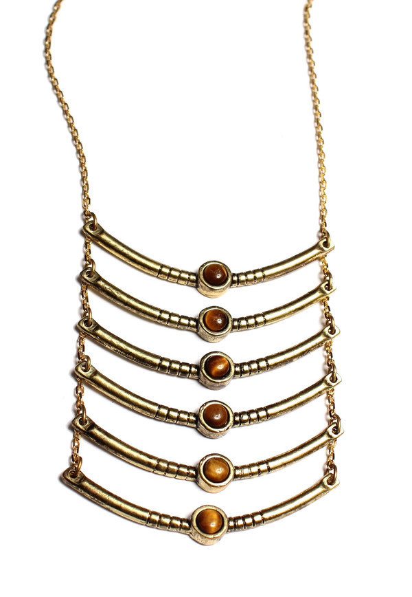 Ax + Apple Breastplate Necklace in Gold