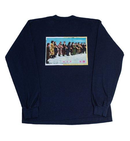 Surround Ainu Long Sleeve Tee - Navy