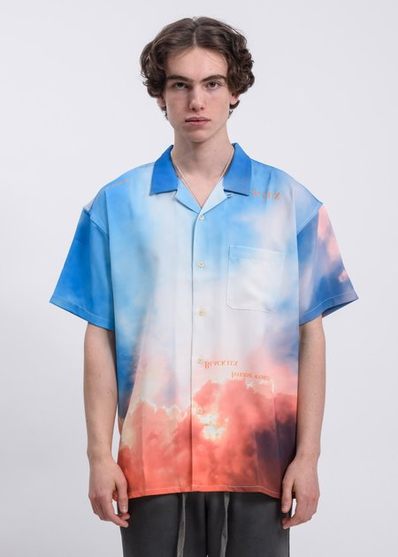 Black Lux Clouds Shirt - Blue