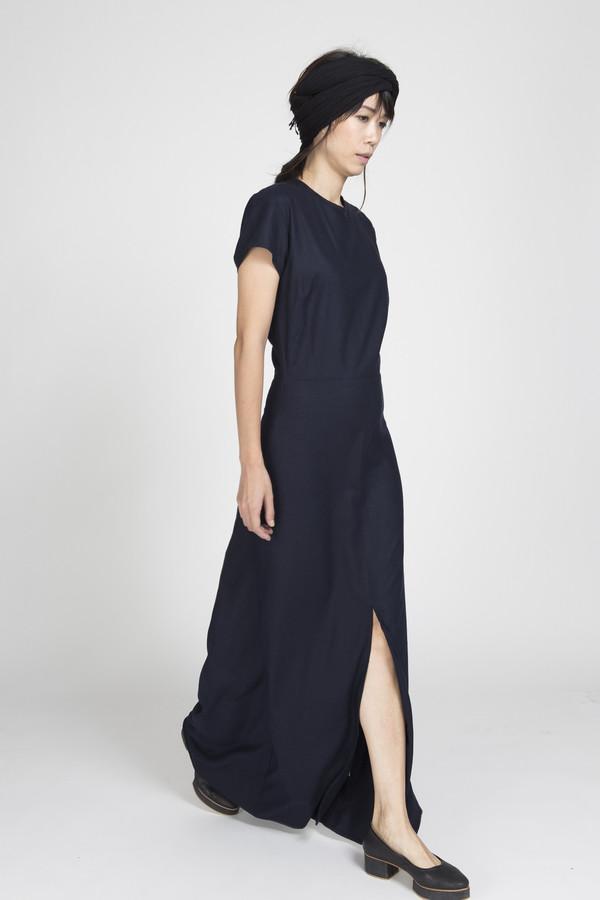 Ali Golden Cap Sleeve Maxi Dress in Black