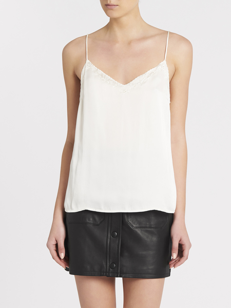 Paige Cicely Scallop Cami - Ivory