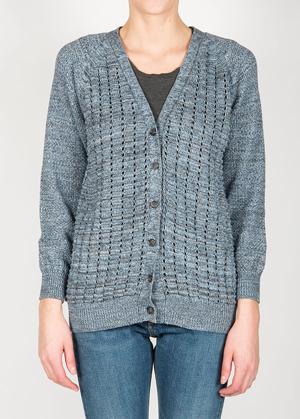 Micaela Greg - Net Cardigan in Jeans Blue