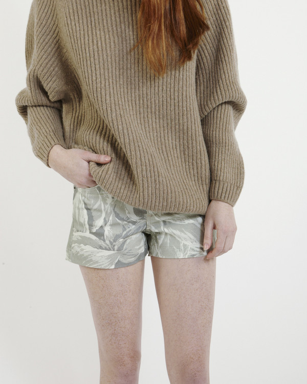 Objects Without Meaning High-Rise Denim Shorts