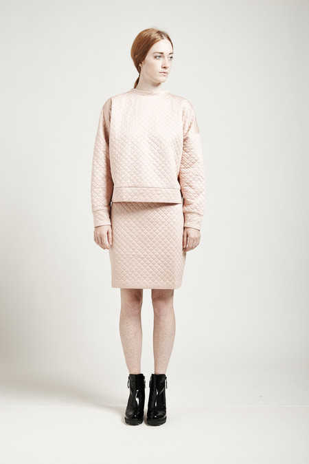 Nanushka Jam quilted Skirt - Powder Pink