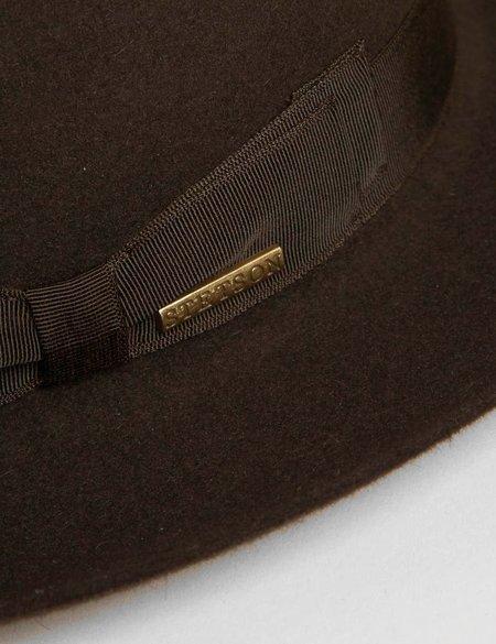 Stetson Penn Fedora Hat - Dark Brown