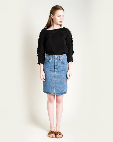 Objects Without Meaning Jena Denim Skirt - Acid Denim