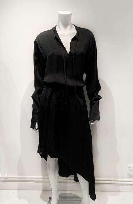 Ilaria Nistri satin asymmetric skirt - black