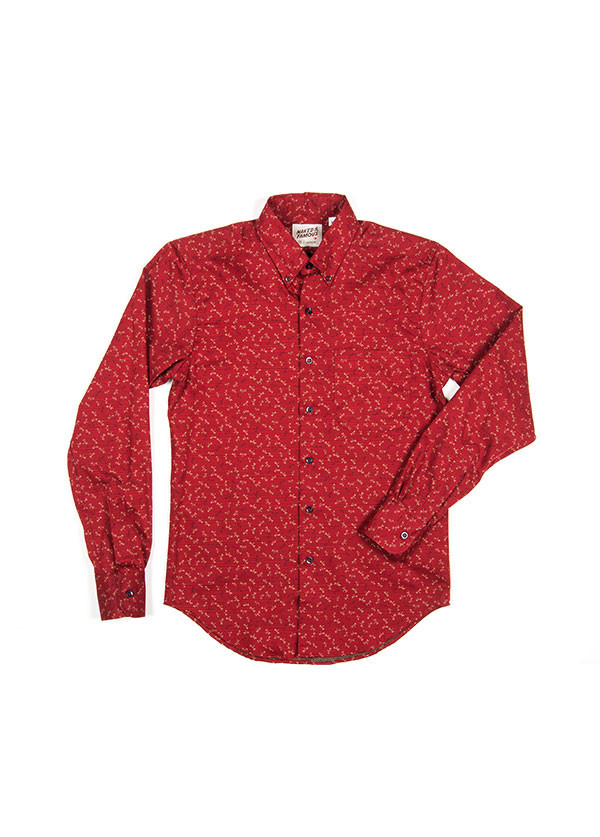 Men's Naked & Famous Denim - Regular Shirt in Kimono Dots / Flies
