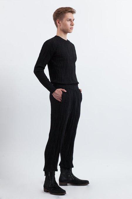 Julian Zigerli Wood Knit Sweater - Black
