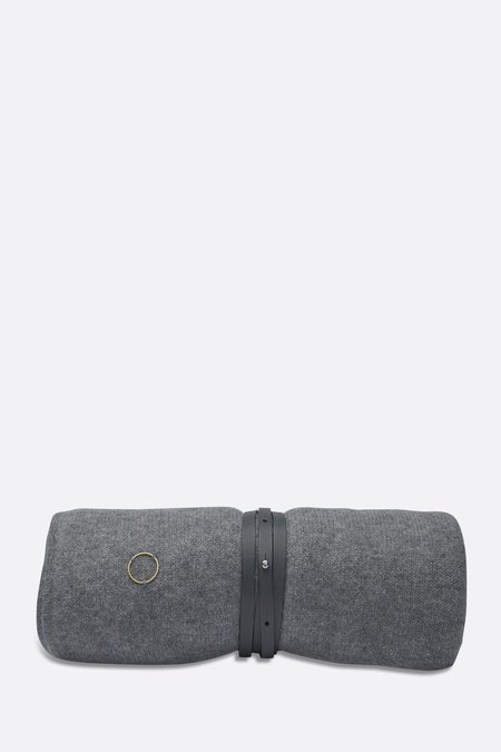 Grey Cashmere Travel Blanket/Wrap by Oyuna