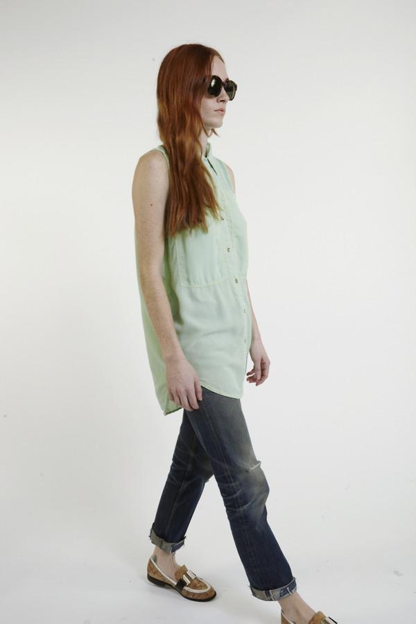 LF Markey Oscar Silk Workshirt in Mint
