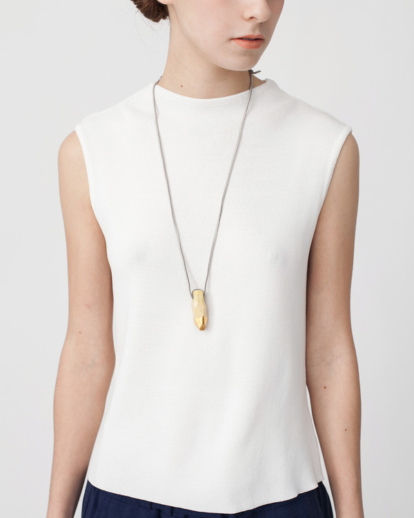 Signe Yberg Porcelain Nugget Necklace in Ivory