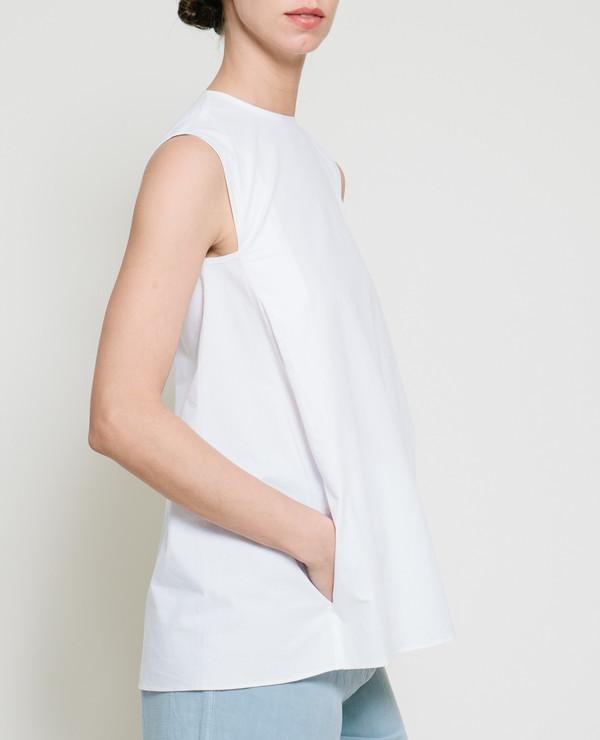 Gary Bigeni Safil Fold Top in White