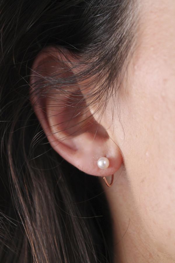 Lumo Tiny Pearls Hoops Earrings